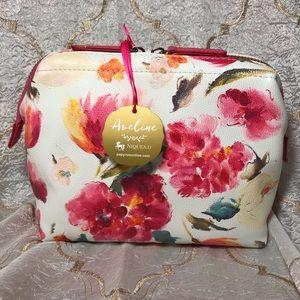 Makeup or accessory bag floral pink